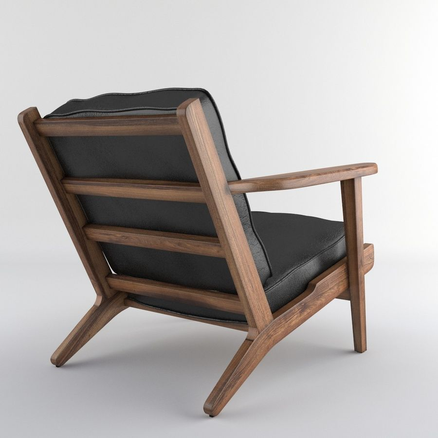 Brooks Lounge Chair (Arm chair) royalty-free 3d model - Preview no. 15