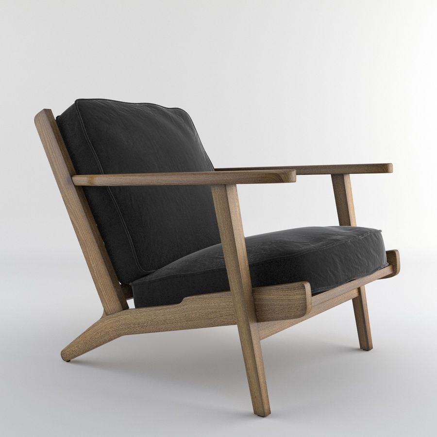 Brooks Lounge Chair (Arm chair) royalty-free 3d model - Preview no. 1