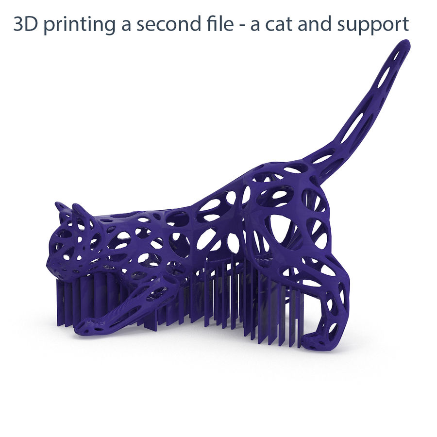 Hunting Cat 3D Printable royalty-free 3d model - Preview no. 5