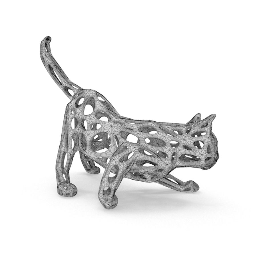 Hunting Cat 3D Printable royalty-free 3d model - Preview no. 8