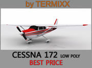 Cessna 172 Low Poly 3d model