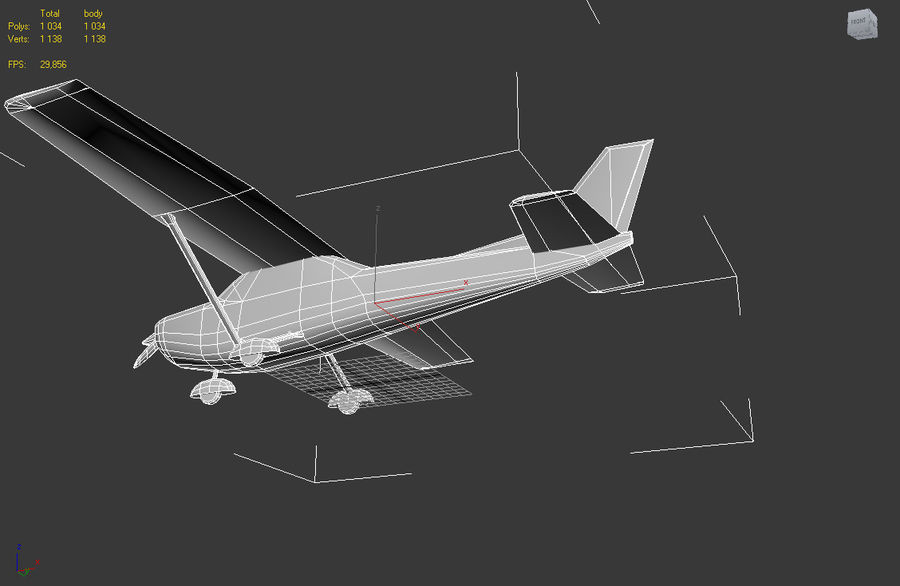 Cessna 172 Low Poly royalty-free 3d model - Preview no. 6