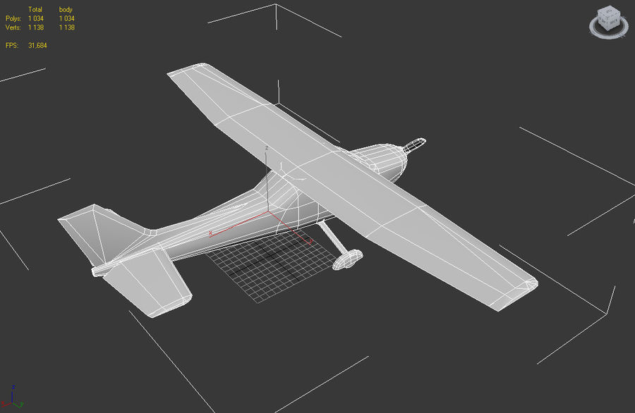 Cessna 172 Low Poly royalty-free 3d model - Preview no. 4
