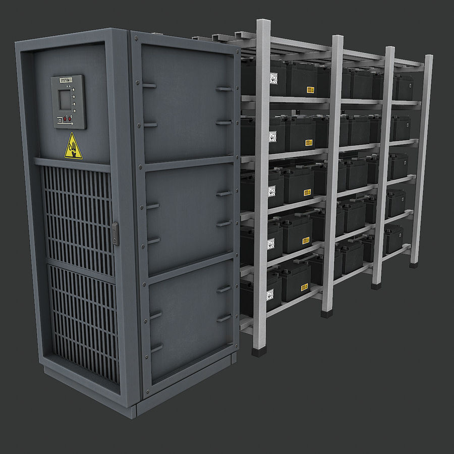 Backup Batteries royalty-free 3d model - Preview no. 7
