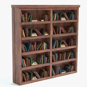 Gamla bokhylla 3d model