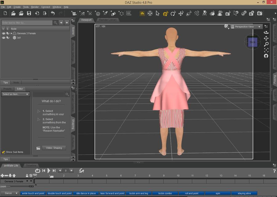 Genesis 3 Dress royalty-free 3d model - Preview no. 5