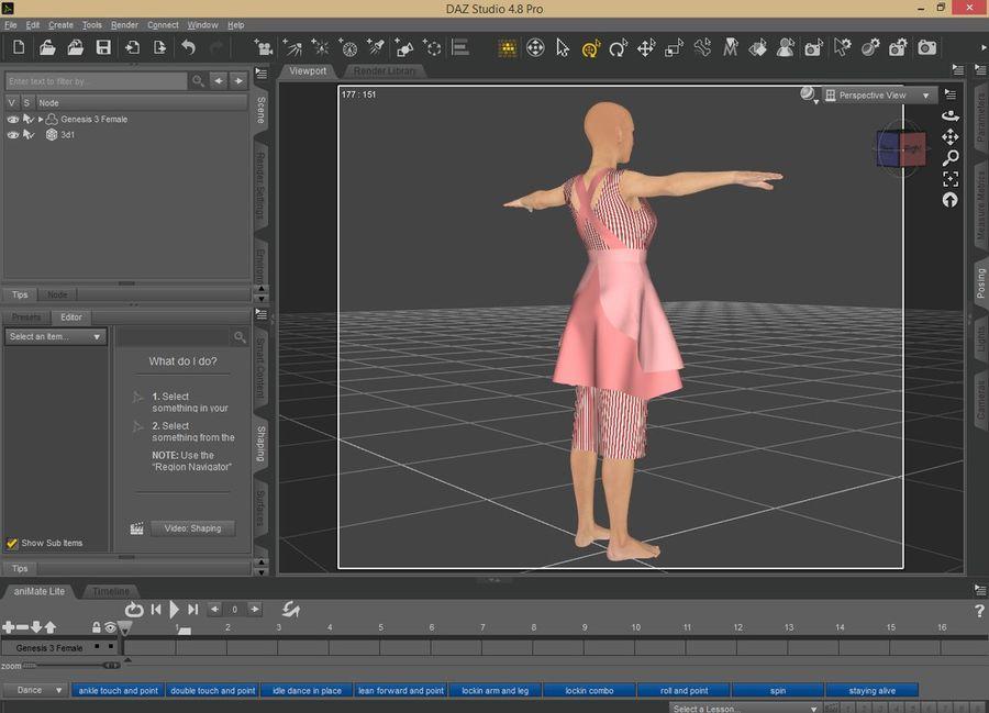 Genesis 3 Dress royalty-free 3d model - Preview no. 4