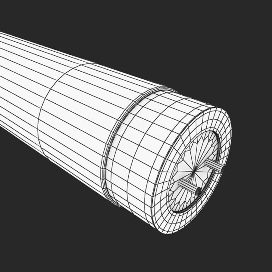 Fluorescent Tube royalty-free 3d model - Preview no. 4