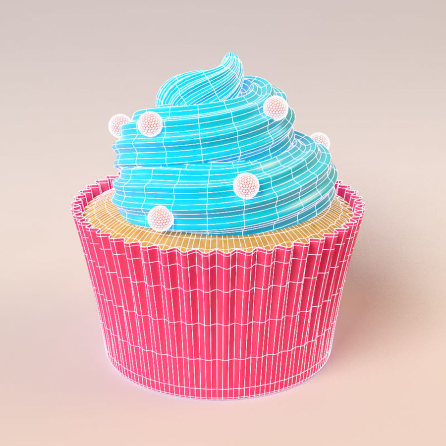 Cupcake royalty-free 3d model - Preview no. 2