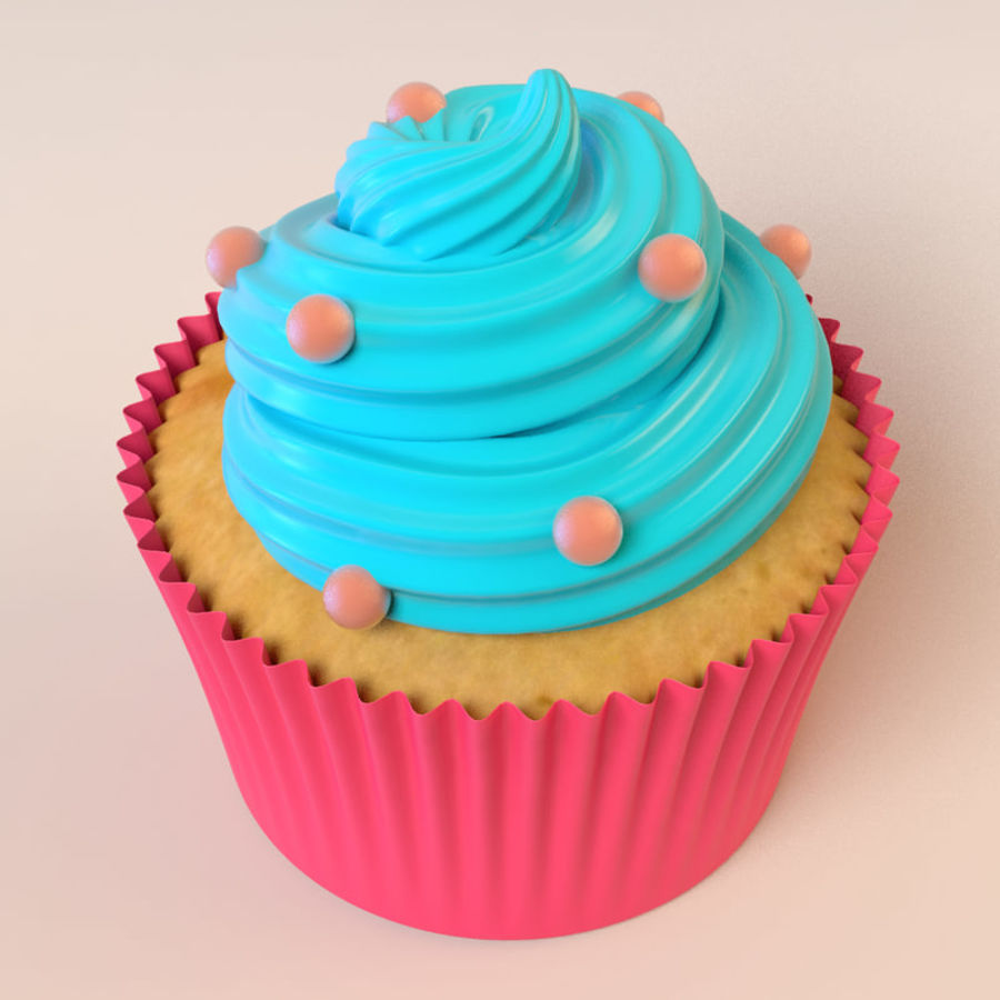 Cupcake royalty-free 3d model - Preview no. 4