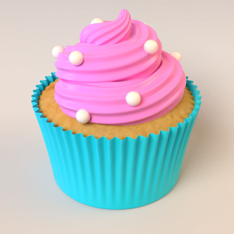Cupcake royalty-free 3d model - Preview no. 5