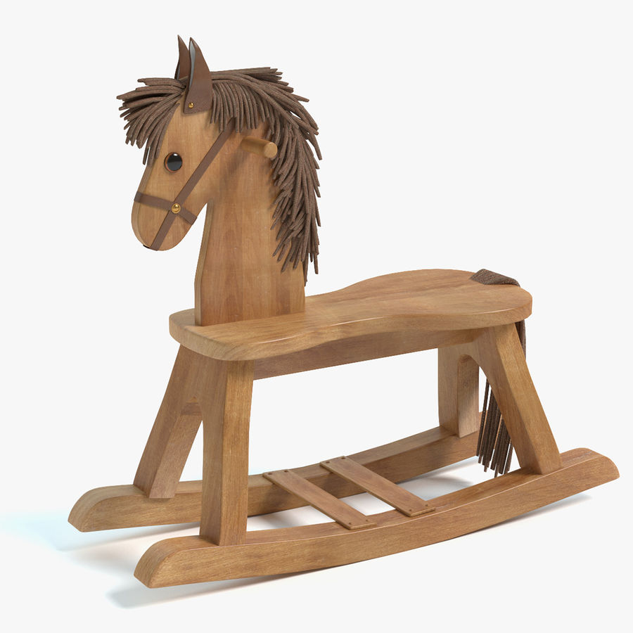 Rocking Horse royalty-free 3d model - Preview no. 1