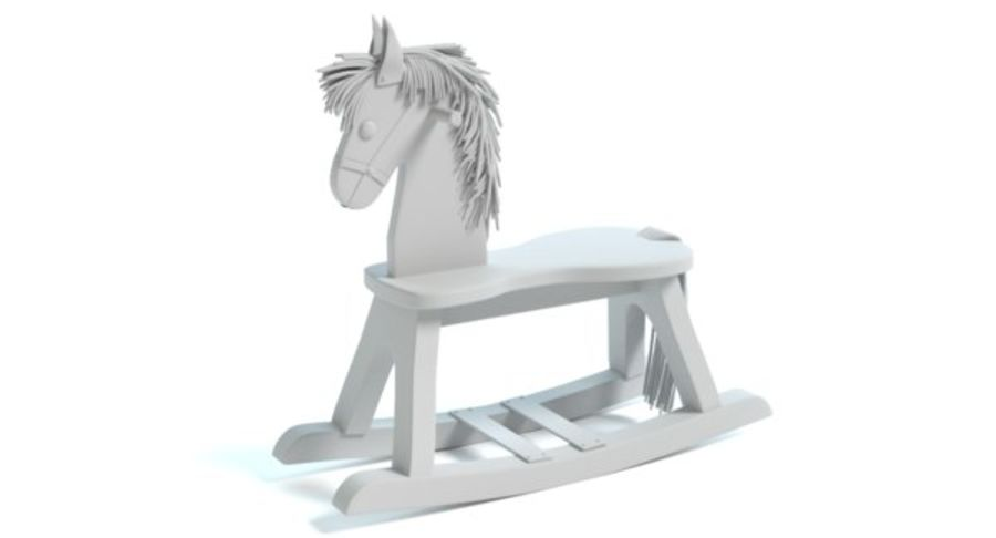 Rocking Horse royalty-free 3d model - Preview no. 9