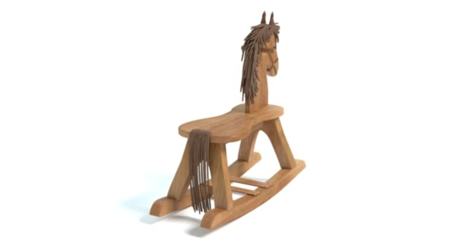 Rocking Horse royalty-free 3d model - Preview no. 7