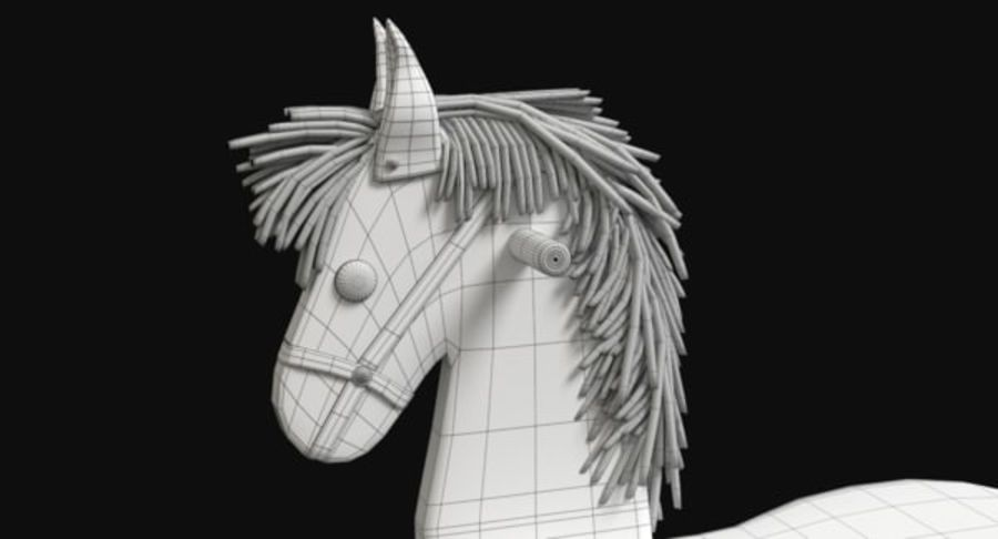 Rocking Horse royalty-free 3d model - Preview no. 12