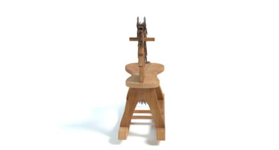 Rocking Horse royalty-free 3d model - Preview no. 5