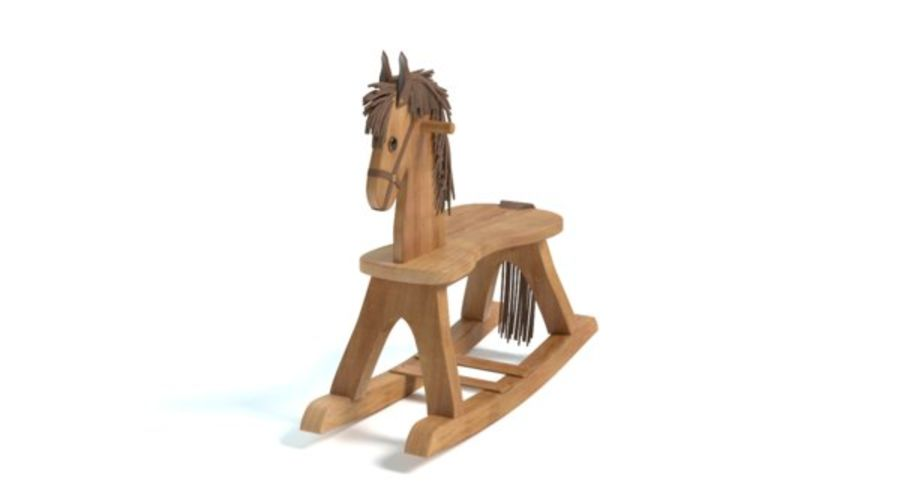 Rocking Horse royalty-free 3d model - Preview no. 4