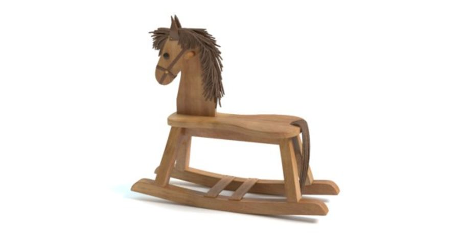 Rocking Horse royalty-free 3d model - Preview no. 8
