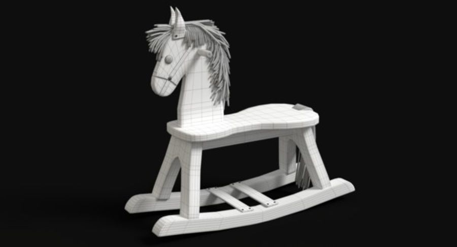 Rocking Horse royalty-free 3d model - Preview no. 11