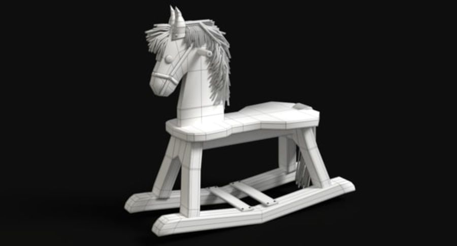 Rocking Horse royalty-free 3d model - Preview no. 10