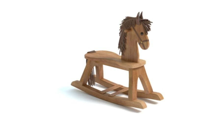 Rocking Horse royalty-free 3d model - Preview no. 6