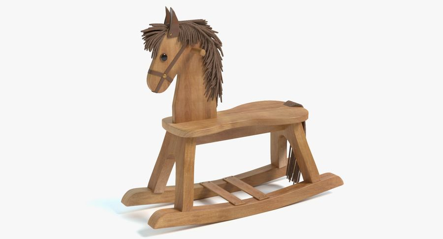 Rocking Horse royalty-free 3d model - Preview no. 2