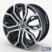 Style 375 wheel black Mid Poly 3d model