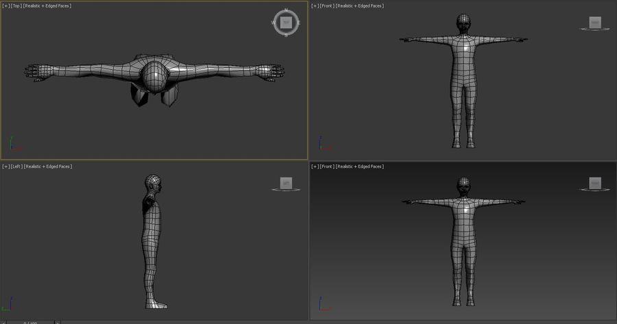 male Base Mesh royalty-free 3d model - Preview no. 2