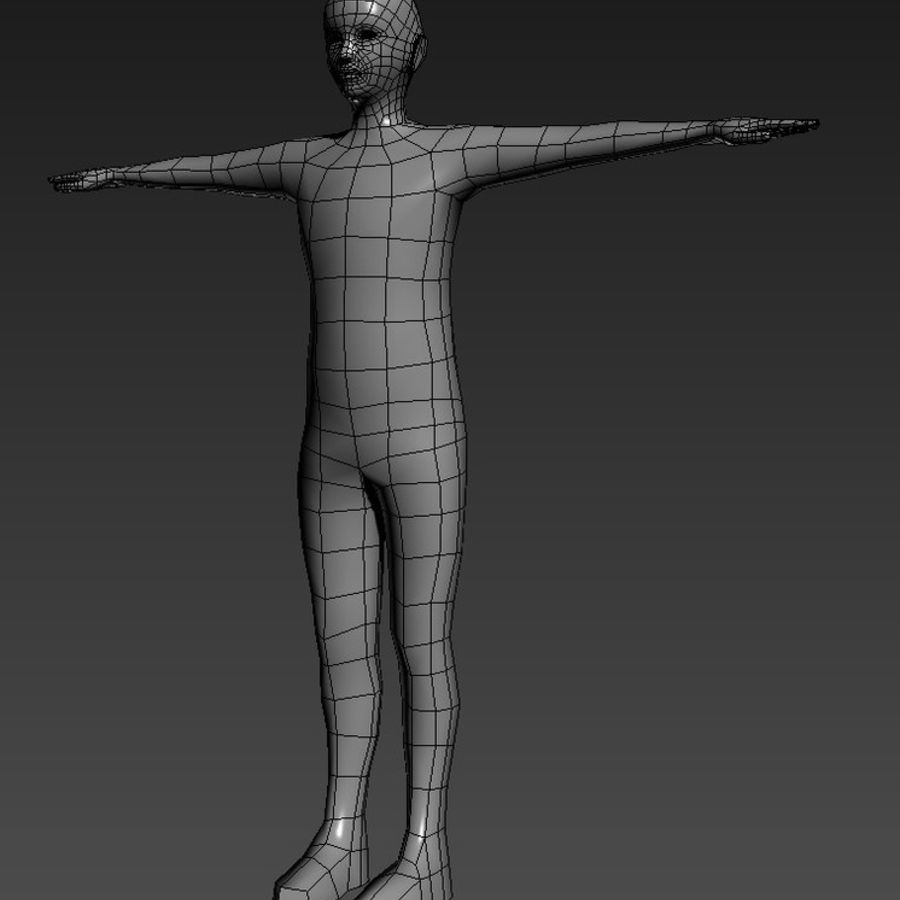 male Base Mesh royalty-free 3d model - Preview no. 1