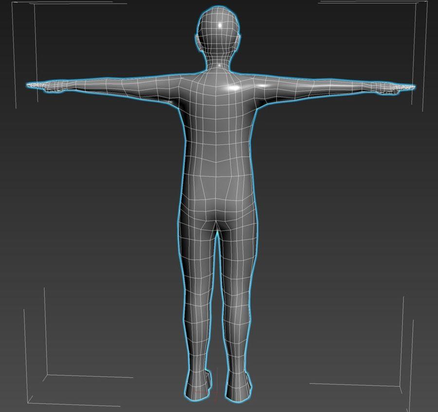 male Base Mesh royalty-free 3d model - Preview no. 4