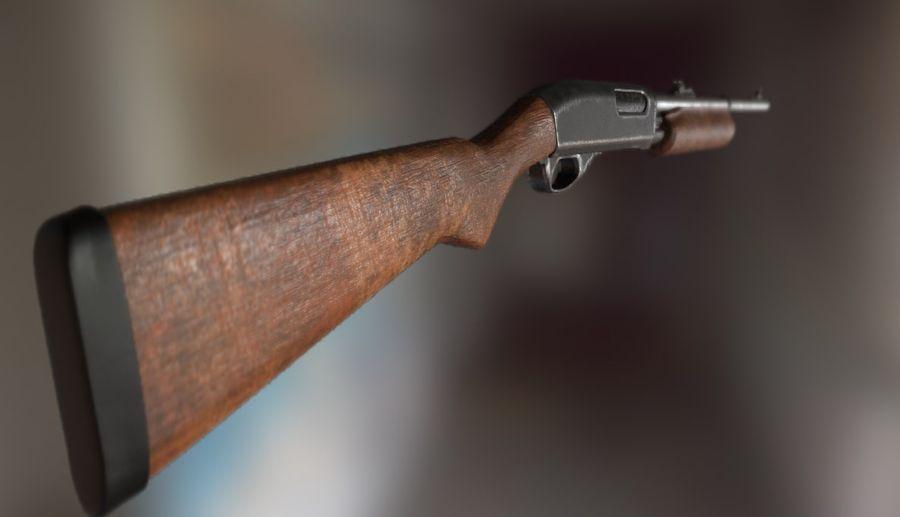 Espingarda Remington 870 royalty-free 3d model - Preview no. 2