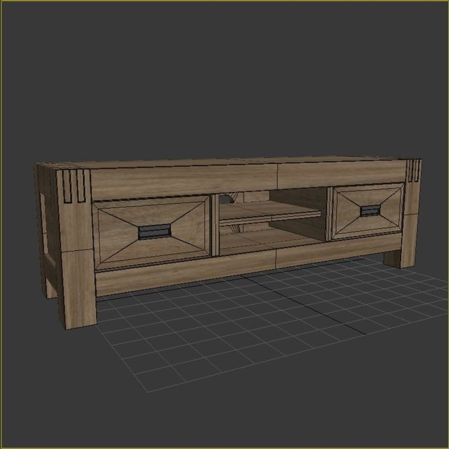 Stylish TV Cabinet royalty-free 3d model - Preview no. 5