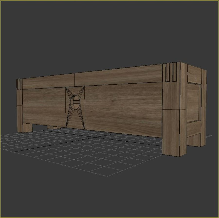 Stylish TV Cabinet royalty-free 3d model - Preview no. 6