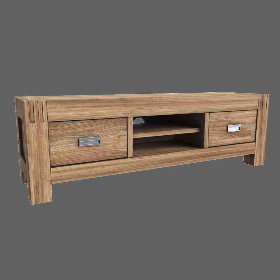 Stylish TV Cabinet royalty-free 3d model - Preview no. 2