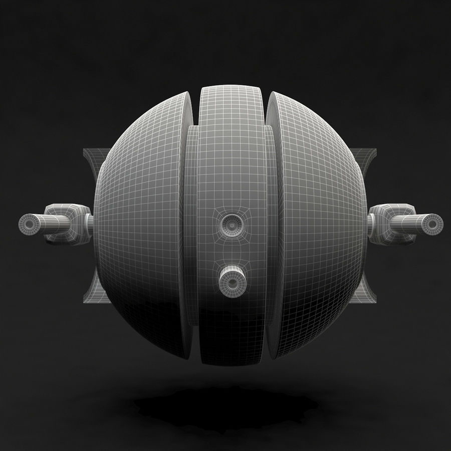 Drone royalty-free 3d model - Preview no. 10