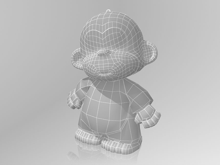 Monkey 2016 royalty-free 3d model - Preview no. 5