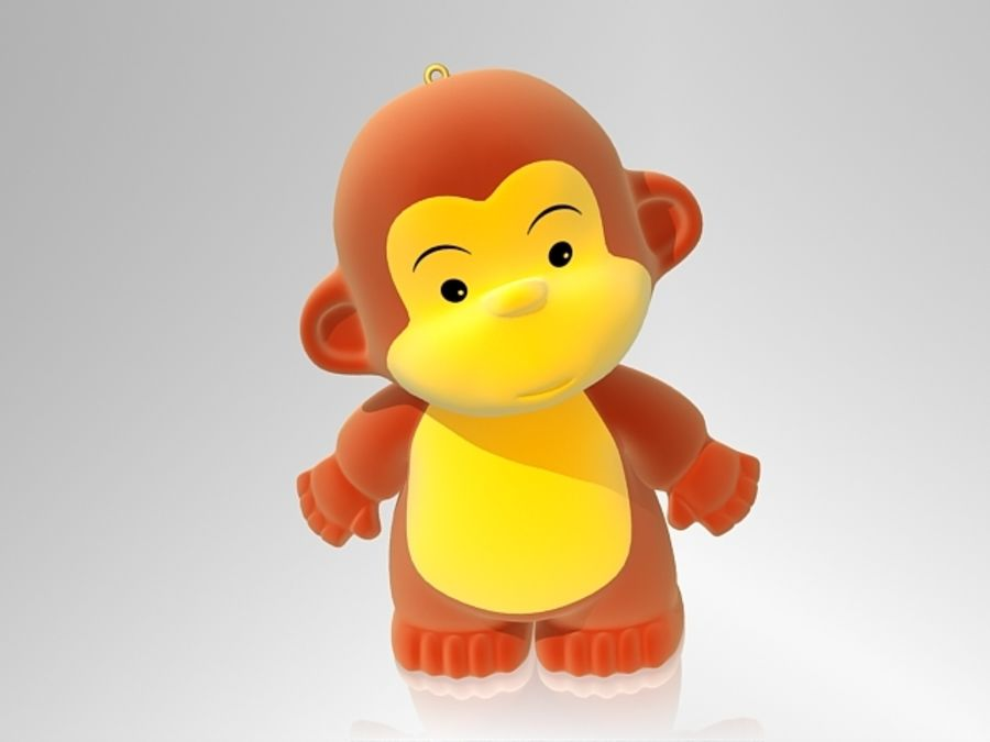 Monkey 2016 royalty-free 3d model - Preview no. 1