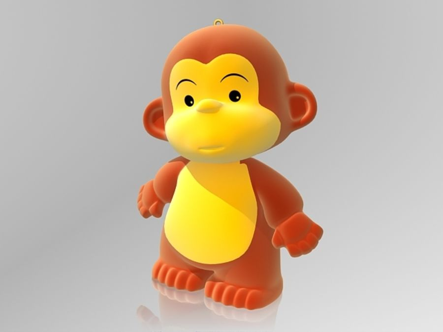 Monkey 2016 royalty-free 3d model - Preview no. 2