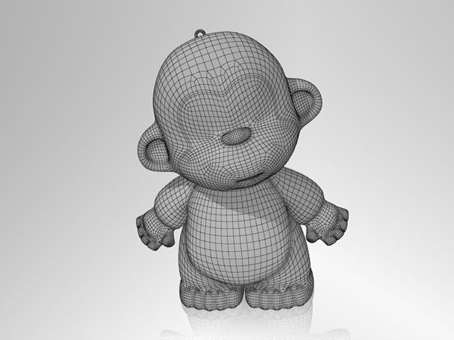 Monkey 2016 royalty-free 3d model - Preview no. 4