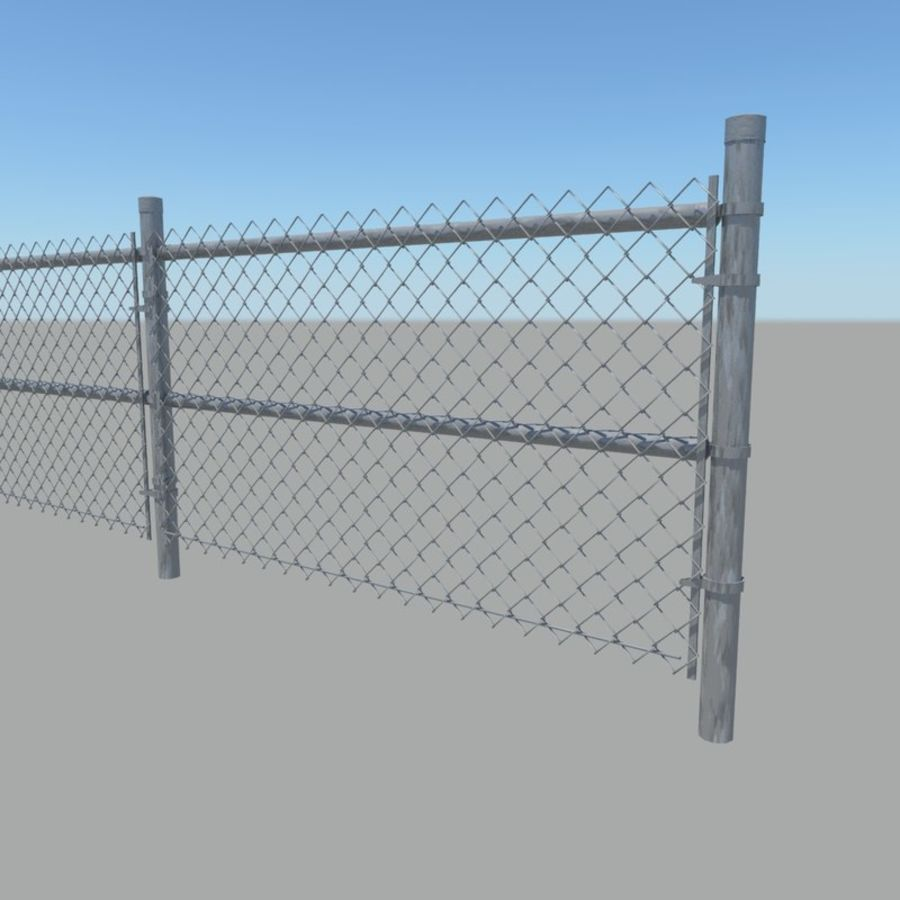 Fence royalty-free 3d model - Preview no. 4