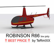 Robinson R66 RED 3d model