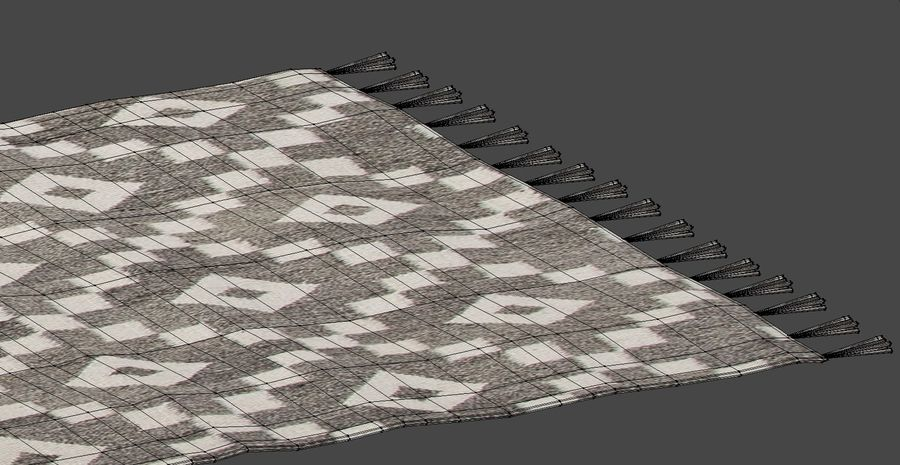Rug with Fringe royalty-free 3d model - Preview no. 7