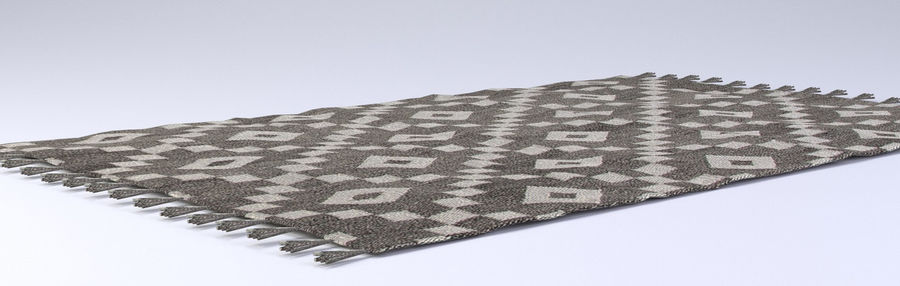 Rug with Fringe royalty-free 3d model - Preview no. 4