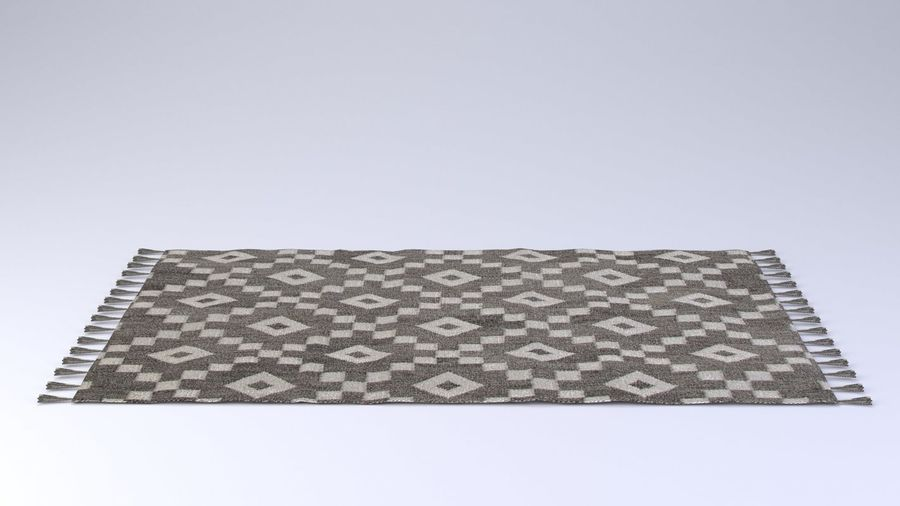 Rug with Fringe royalty-free 3d model - Preview no. 3