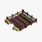 Kreskówka ogród 3d model
