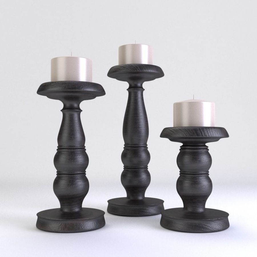 Candle Holder royalty-free 3d model - Preview no. 2