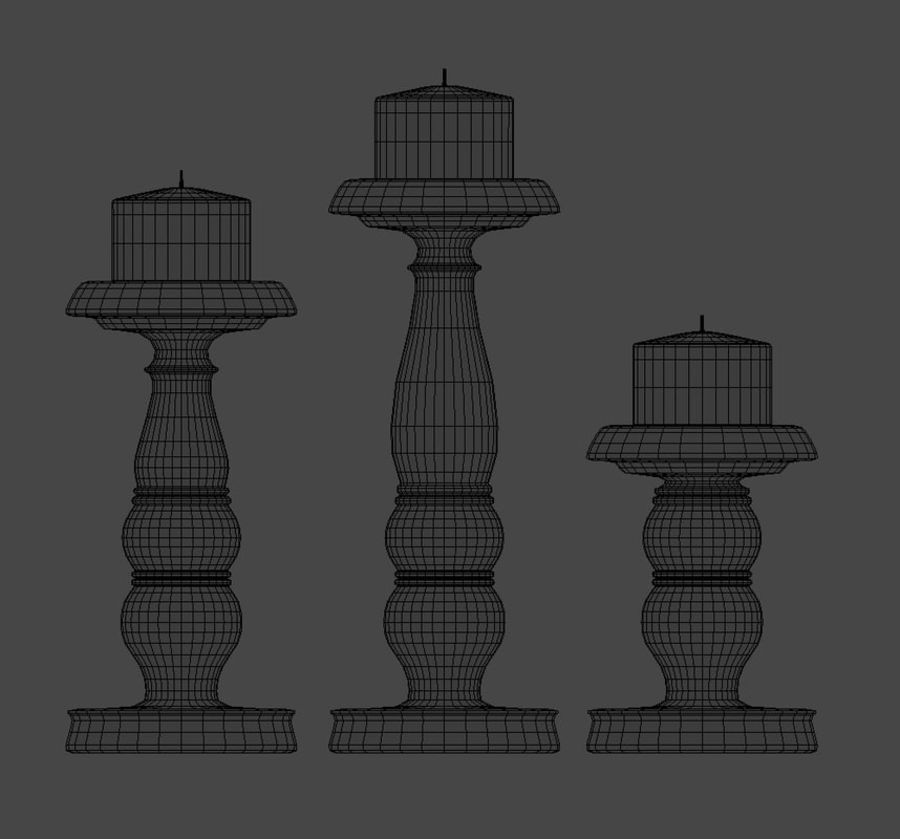 Candle Holder royalty-free 3d model - Preview no. 7