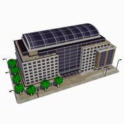 Cartoon Low City City Building Tile 6 - Музей Конференц-центра 3d model