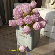 Blumenstrauß aus rosa Rosen 3d model