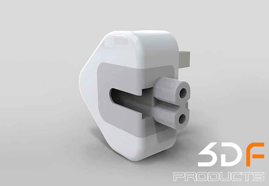 Phone Adaptor royalty-free 3d model - Preview no. 3